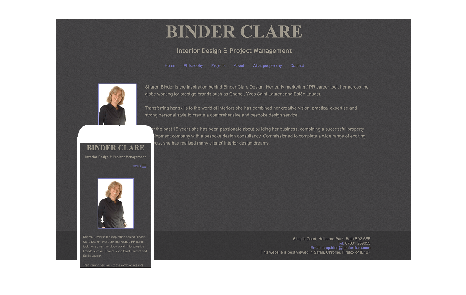 Binder Clare website image