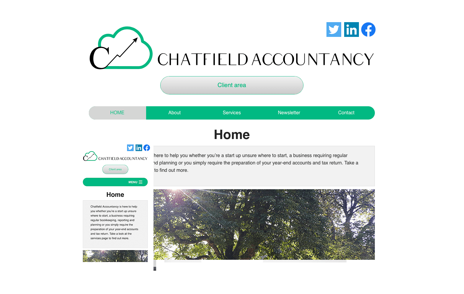Chatfield Accountancy website image