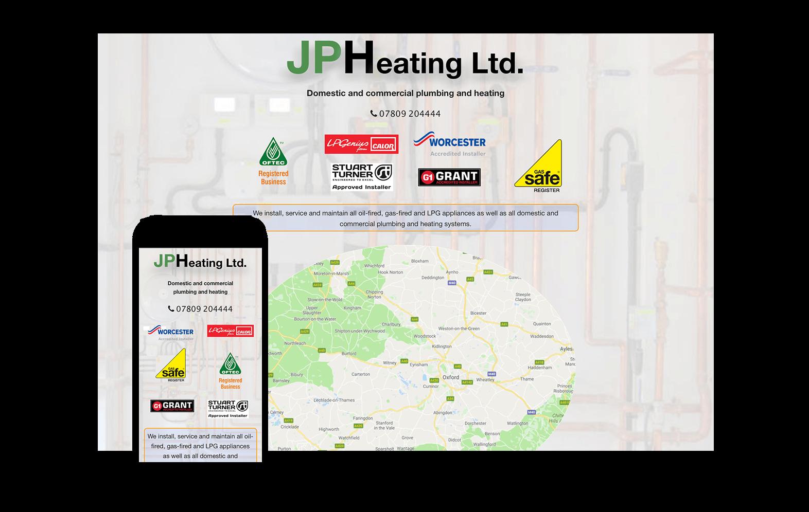 JP Heating website