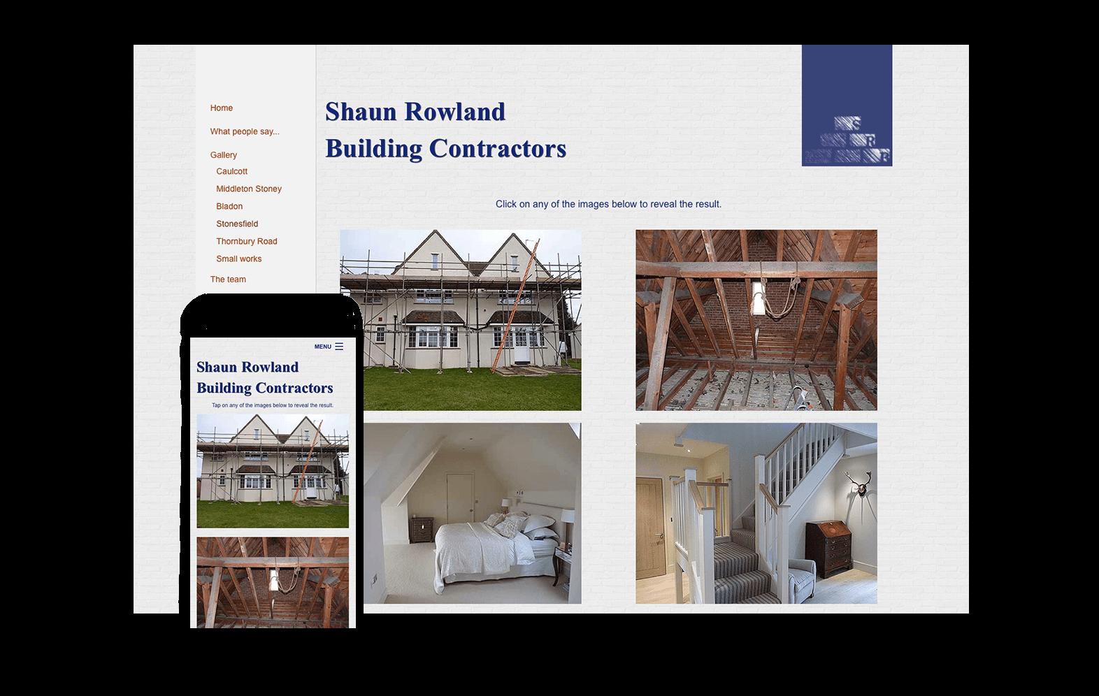 Shaun Rowland Building website